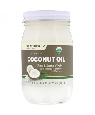 Organic Extra Virgin Coconut Oil (385 g) - Dr. Mercola