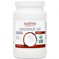 Biologische extra virgin kokosnoot olie (444 ml) - Nutiva